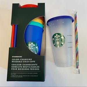 STARBUCKS 🌈 Color-Changing Reusable Cold Cups